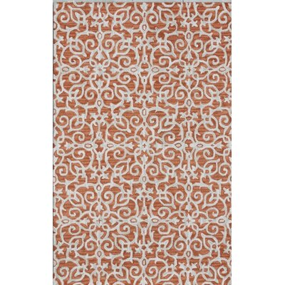 Galen Handmade Rust/Ivory Area Rug Rug Size: Rectangle 33 x 53