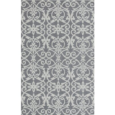 Galen Handmade Wool Silver Area Rug Rug Size: Rectangle 92 x 126