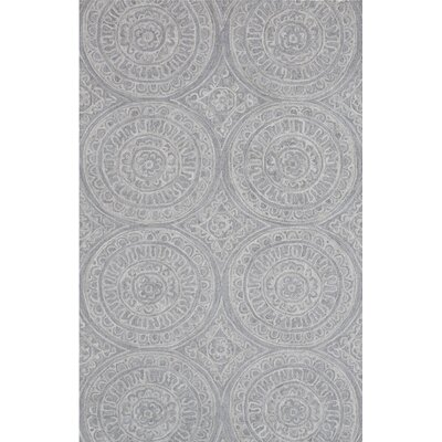 Galen Handmade Silver Area Rug Rug Size: Rectangle 92 x 126
