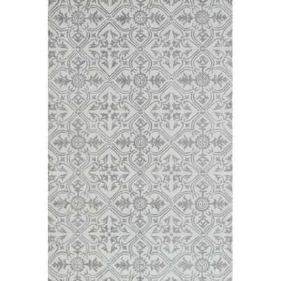 Galen Handmade Wool Gray Area Rug Rug Size: Rectangle 5 x 8