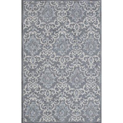 Galen Handmade Gray Area Rug Rug Size: Rectangle 92 x 126