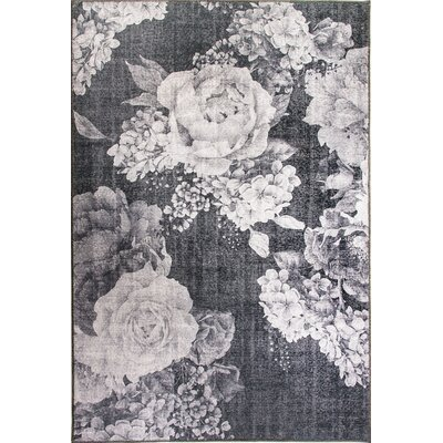 Illusion Gray Area Rug Rug Size: 53 x 77
