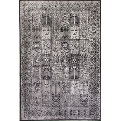 Illusion Gray Area Rug Rug Size: 21 x 36
