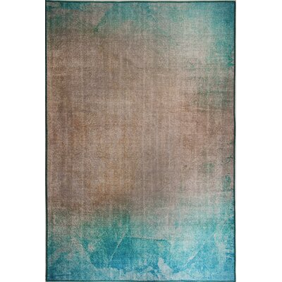 Illusion Turquoise/Beige Area Rug Rug Size: Rectangle 21 x 36