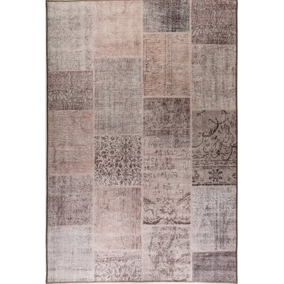 Illusion Beige/Tan Area Rug Rug Size: 21 x 36