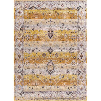 Signature Tan Area Rug Rug Size: 5'3