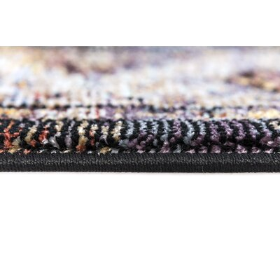 Signature Black Area Rug Rug Size: Runner 22 x 77