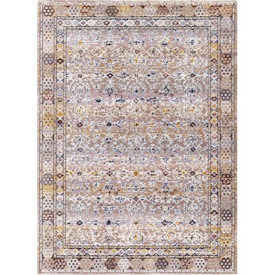 Signature Light Gray Area Rug Rug Size: Rectangle 53 x 77