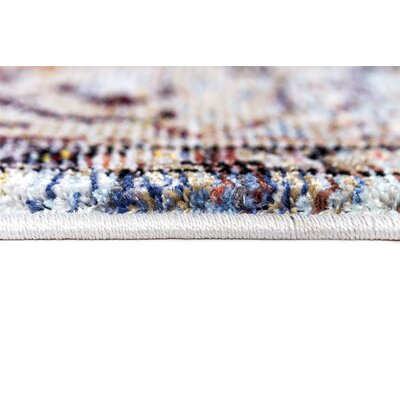 Signature Blue/Tan Area Rug Rug Size: Runner 22 x 77