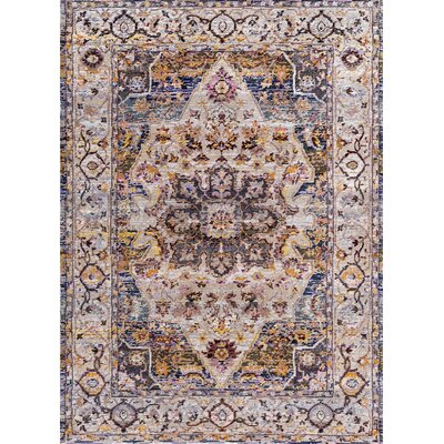 Signature Blue Area Rug Rug Size: Rectangle 53 x 77