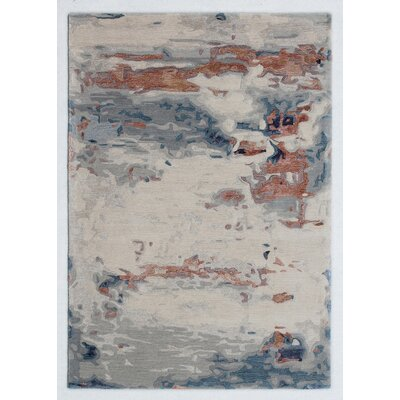 Opal Handmade Beige/Silver Area Rug Rug Size: Rectangle 4 x 6