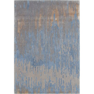 Opal Handmade Blue/Gold Area Rug Rug Size: Rectangle 5 x 8
