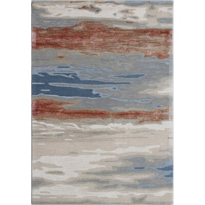 Opal Handmade Rust/Blue Area Rug Rug Size: Rectangle 4 x 6