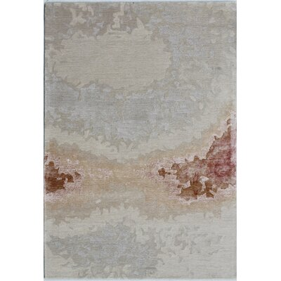 Opal Handmade Beige/Rust Area Rug Rug Size: Rectangle 4 x 6