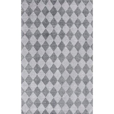 Symphony Hand-Tufted Silver/Gray Area Rug Rug Size: Rectangle 5 x 8