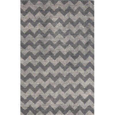 Symphony Hand-Tufted Gray/Black Area Rug Rug Size: 33 x 53
