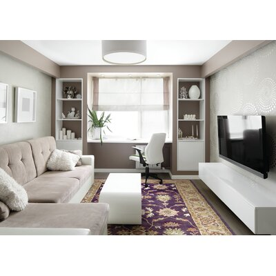 Ashtown Eggplant Area Rug Rug Size: Rectangle 96 x 136