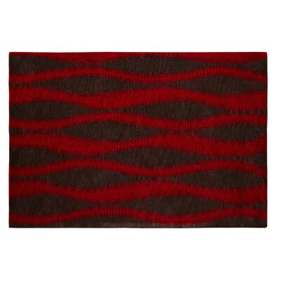 Epic Red/Grey Rug Rug Size: Rectangle 67 x 96