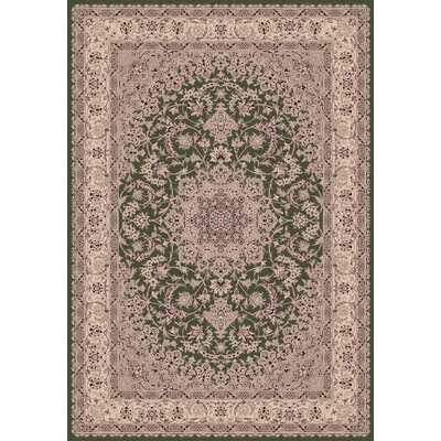 Legacy Kashan Green Rug Rug Size: Rectangle 67 x 96