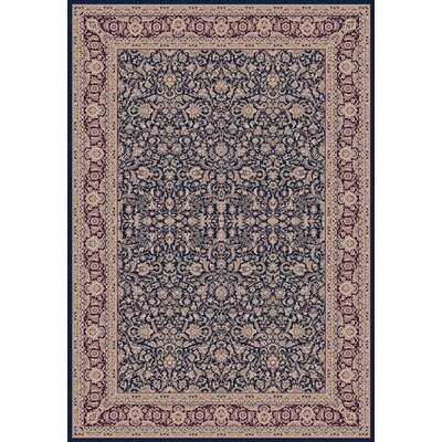 Atterbury Persian Navy Rug Rug Size: Rectangle 6'7
