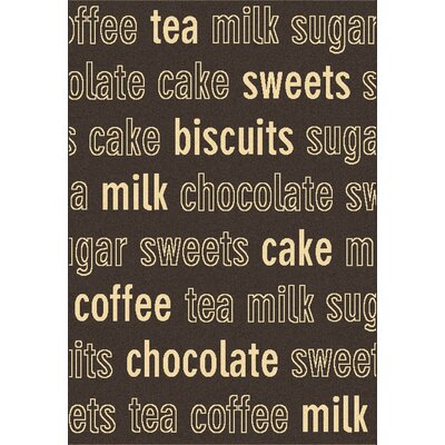 Trend Chocolate Novelty Rug Size: 53 x 77