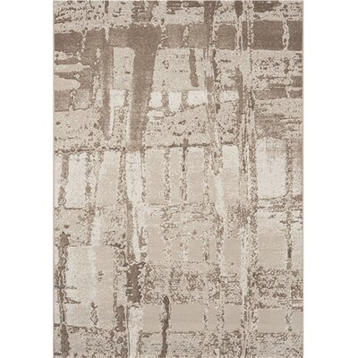 Mysterio Beige Area Rug Rug Size: Rectangle 53 x 77