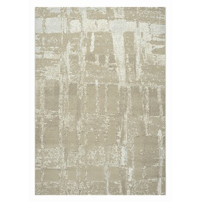 Mysterio Light Beige Area Rug Rug Size: Rectangle 53 x 77