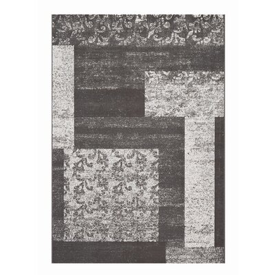 Mysterio Silver Block Area Rug Rug Size: Rectangle 67 x 96