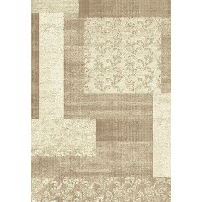 Mysterio Beige Block Area Rug Rug Size: Rectangle 53 x 77