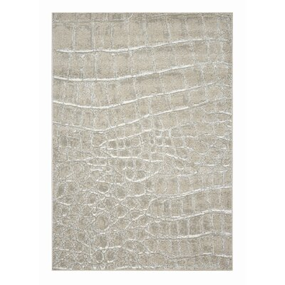Mysterio Ivory Checked Area Rug Rug Size: Rectangle 710 x 1010