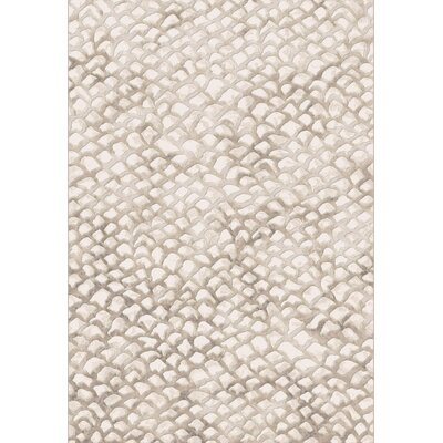 Brumback Ivory Area Rug Rug Size: Rectangle 5'3