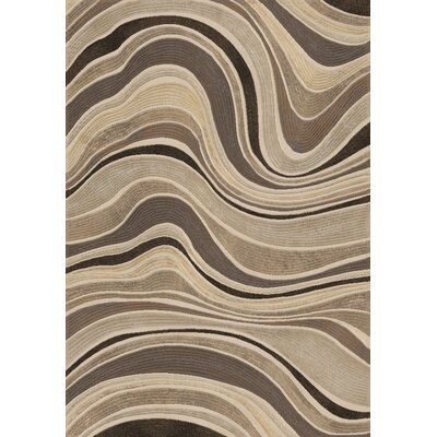 Eclipse Gray Wave Area Rug Rug Size: 53 x 77