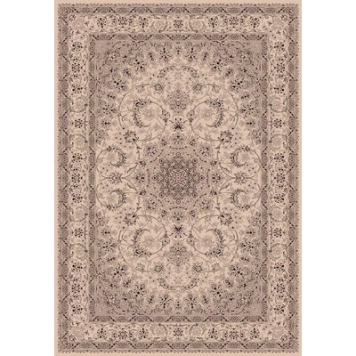 Legacy Kashan Ivory Rug Rug Size: Rectangle 67 x 96