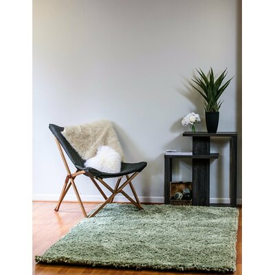 Luxury Shag Hand Tufted Light Green Area Rug Rug Size: 3 x 5