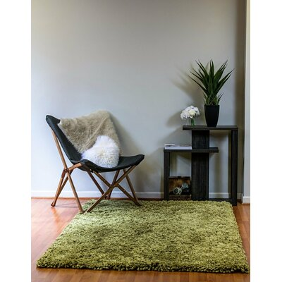 Luxury Shag Olive Area Rug Rug Size: Rectangle 8 x 10