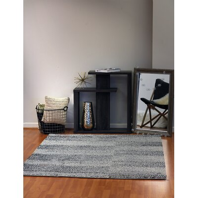 Flair Gray Area Rug Rug Size: 36 x 56