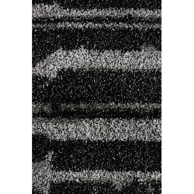 Flair Black Area Rug Rug Size: 67 x 96