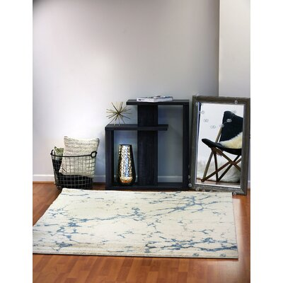 Flair Light Gray Area Rug Rug Size: 53 x 77