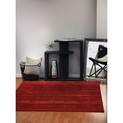 Flair Red Area Rug Rug Size: 36 x 56