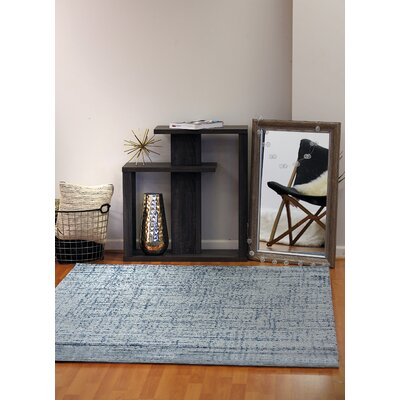 Flair Soft Blue Area Rug Rug Size: 53 x 77