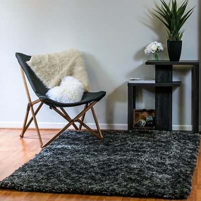 Luxury Shag Dark Gray Area Rug Rug Size: Rectangle 5 x 8