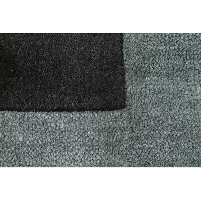 Manhattan Charcoal Solid Bordered Area Rug Rug Size: 4' x 6'