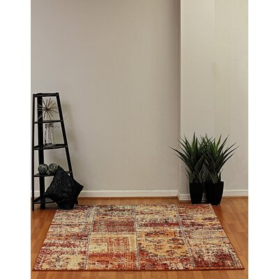 Infinity Harvest Gold Area Rug Rug Size: 710 x 112
