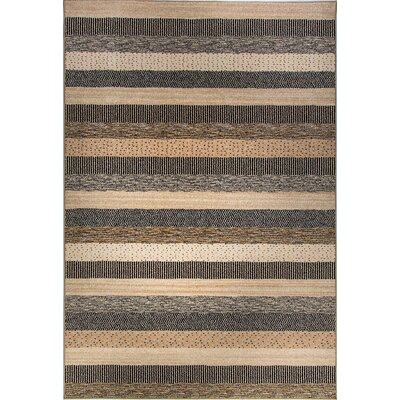 Infinity Gray/Beige Area Rug Rug Size: Rectangle 710 x 112
