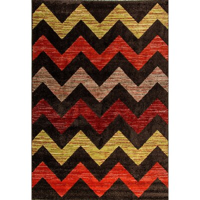 Infinity Chervon Area Rug Rug Size: Rectangle 311 x 57