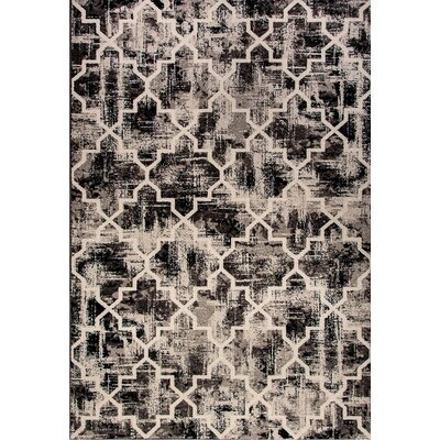 Infinity Black Area Rug Rug Size: Rectangle 67 x 96