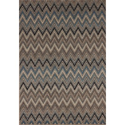 Infinity Beige/Blue Area Rug Rug Size: 53 x 77
