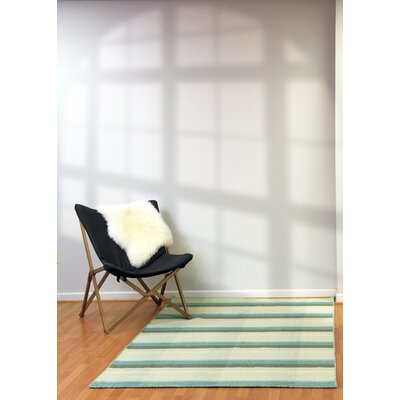 Pickering Hand Woven Wool Green Area Rug Rug Size: 4 x 6