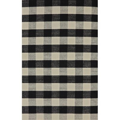 Pickering Hand Woven Wool Black/Ivory Area Rug Rug Size: Rectangle 4 x 6
