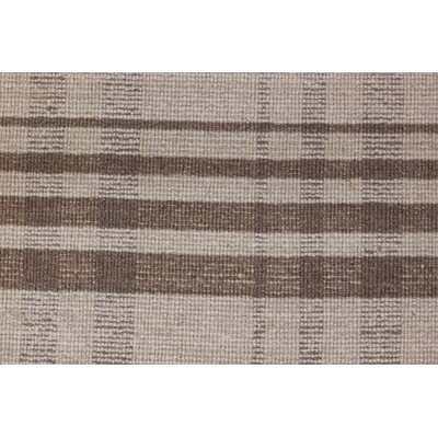Pickering Hand Woven Wool Brown Area Rug Rug Size: Rectangle 4 x 6